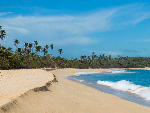 Manati beach in the northern region of Puerto Rico.